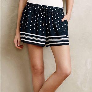 Elevenses Polka Dot Chiffon Frill Shorts M